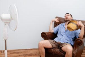 flushed-man-before-fan
